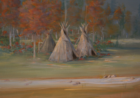 teepee close up painting