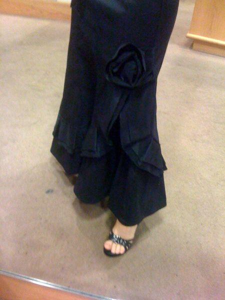 Long skirt close