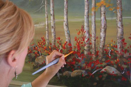 Rachel Ridge painting