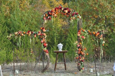 The wedding arch Wedding arch Weddings by Kim Dallas TX Tom and Meghan