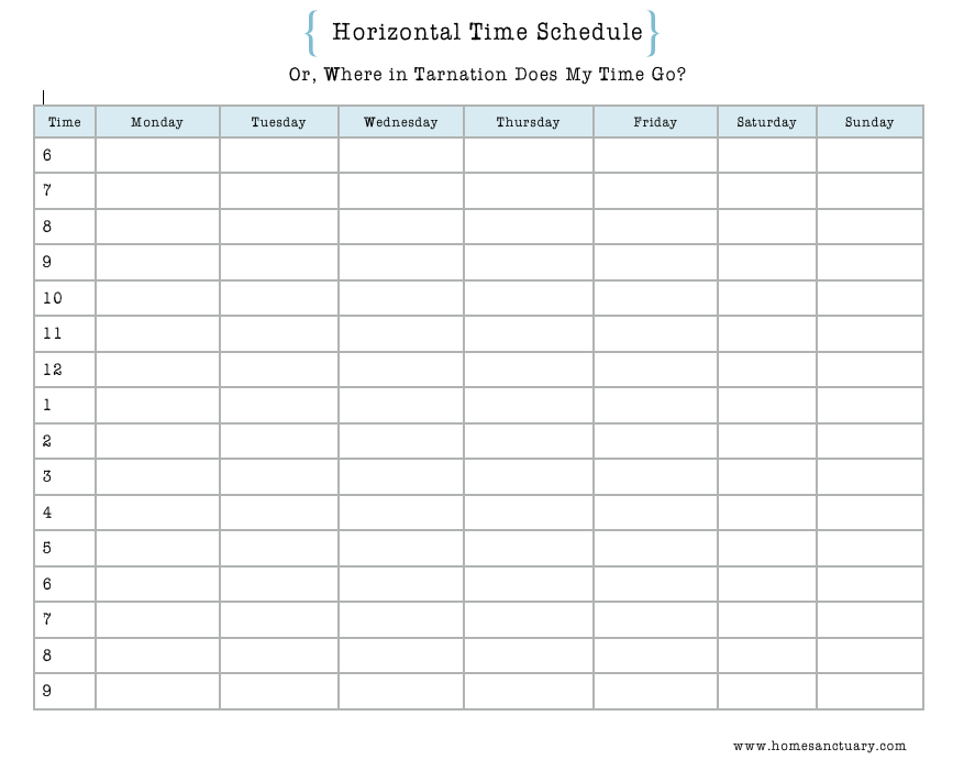 home sanctuary where does your time go housekeeping system step 2