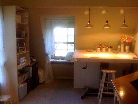 Rachel's work area
