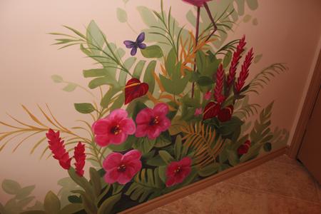 jungle mural foliage