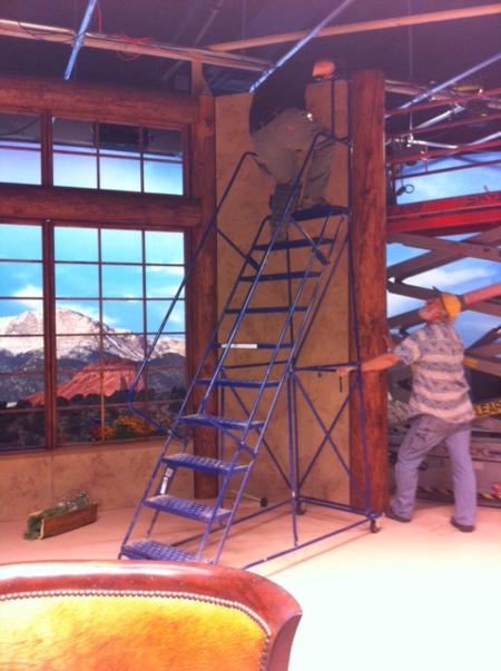 TV studio walls