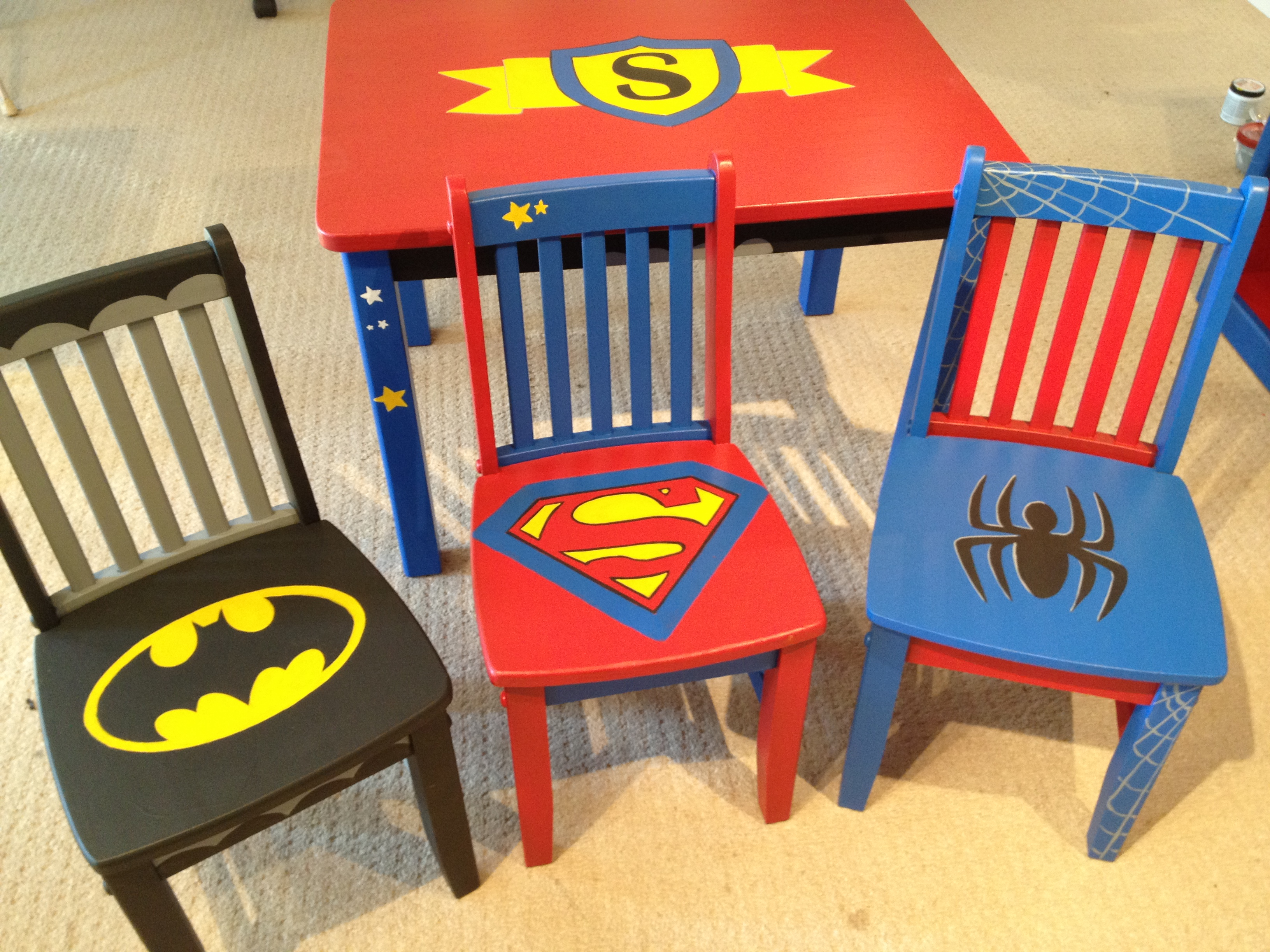 Marvelous Superhero Chairs Rachel Ridge