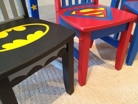 Superhero chairs-Rachel Ridge