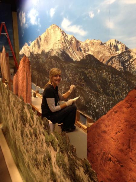 Rachel painting scenery