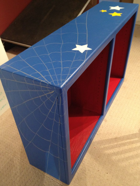 Superhero bookshelf-Rachel Ridge