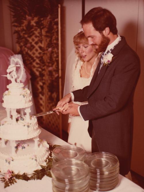 Tom & Rachel Ridge wedding 1983