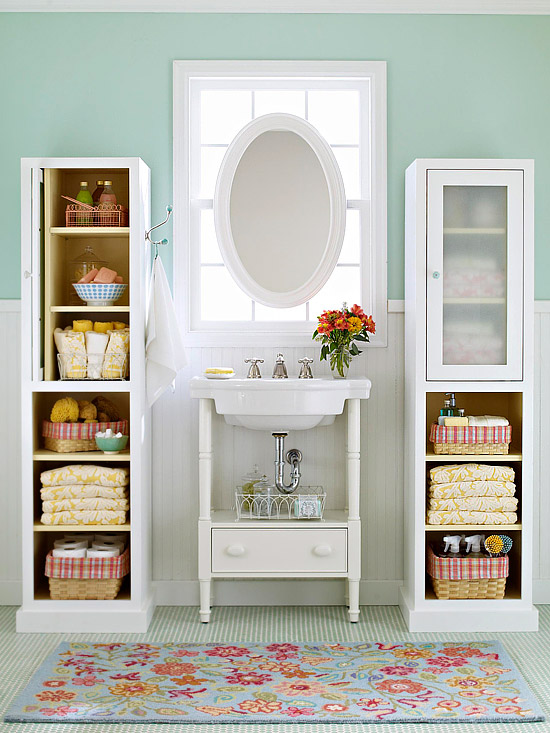Storage Towers For Small Bathroom