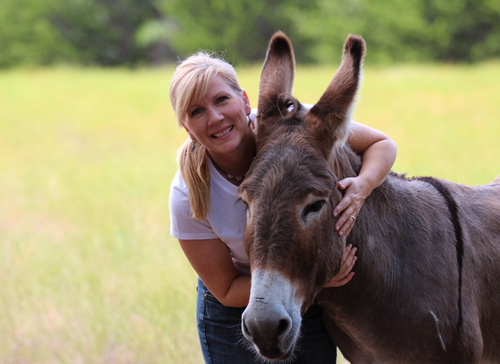 Rachel and Flash the donkey