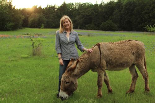 Rachel and Flash, the donkey
