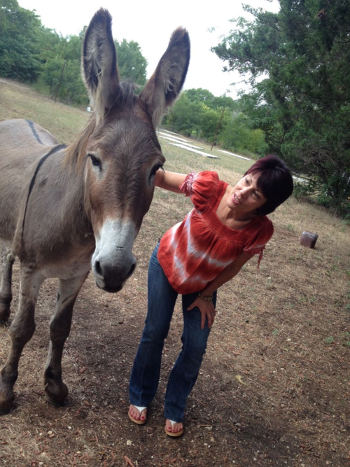 Ruth Samsel and Flash the Donkey