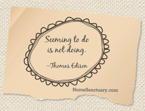 Seeming to do is not doing.