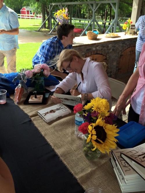 Rachel Ridge signing books