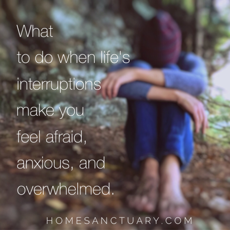 Life's interruptions - home sanctuary