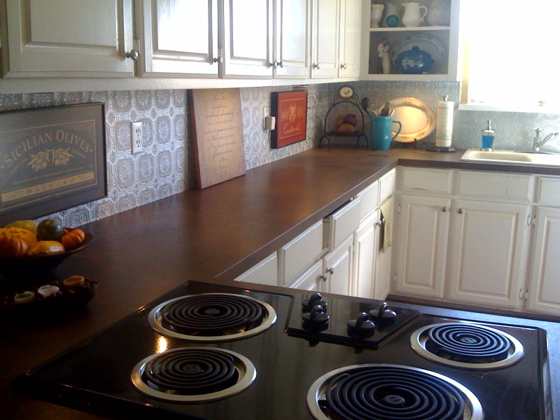 painted countertop