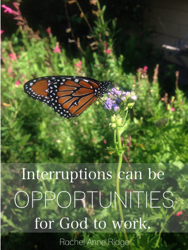 Interruptions=Opportunities