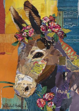 Savor the Slow Path - donkey art
