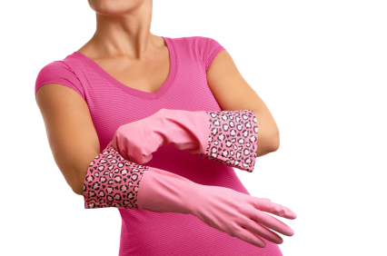 Rubber gloves = courage