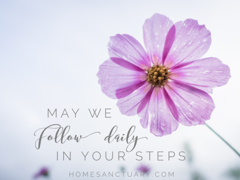 prayer for the week follow daily homesanctuary