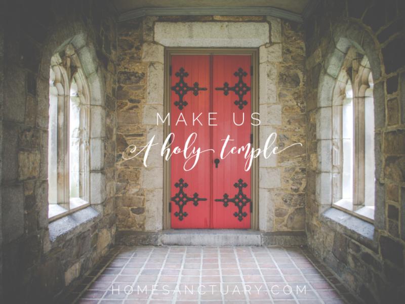 Make us a holy temple bocp