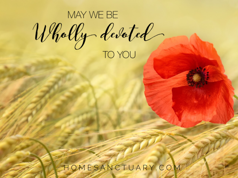 wholly devoted prayer